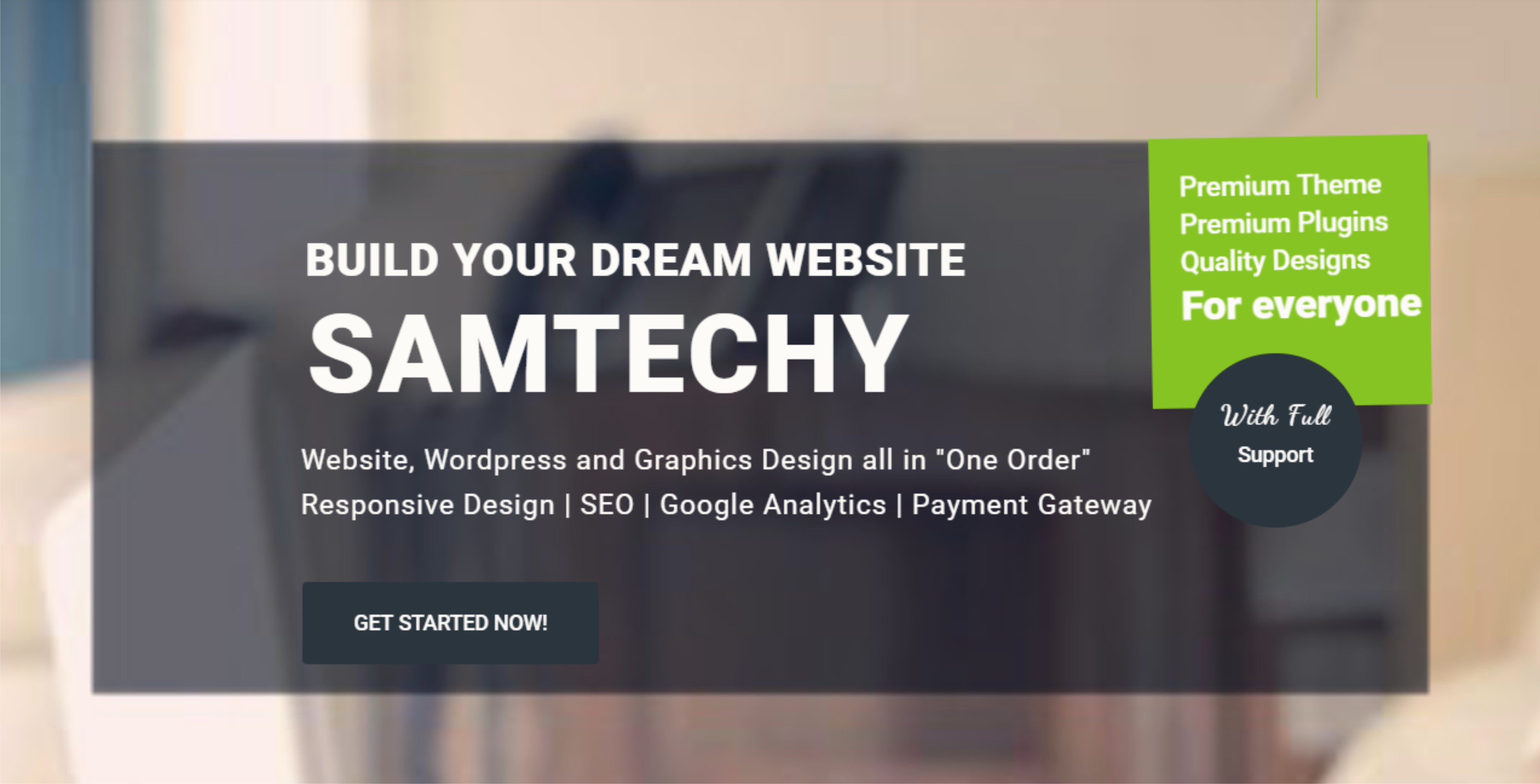Samtechy Will Design A Professional Wordpress Website For You In 12 Hrs