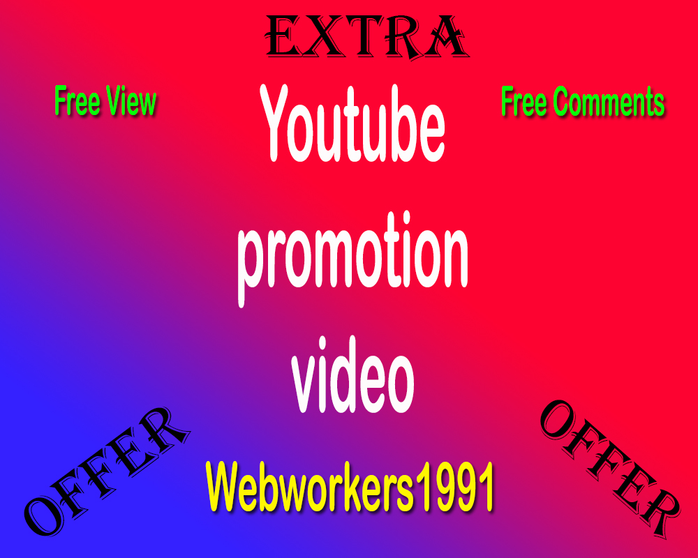 Get FAST 1000  High Quality and Good retention Youtube video promotion