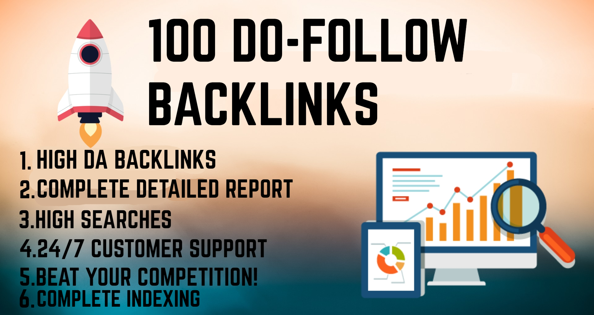 Boost your ranking with 100 do follow backlinks with in 24 hours