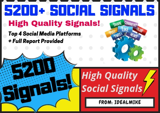 5200+ Mixed Platform Permanent Social Signals Rank Higher with Signals
