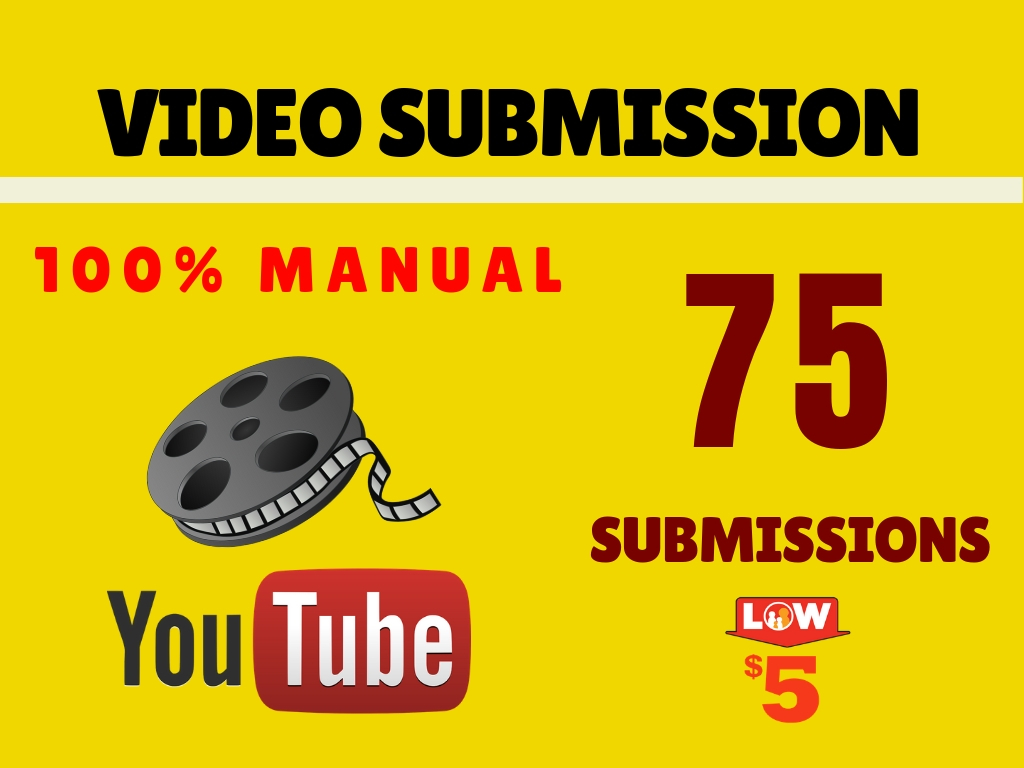 Manual Video Submission on top 75 High DA Sites