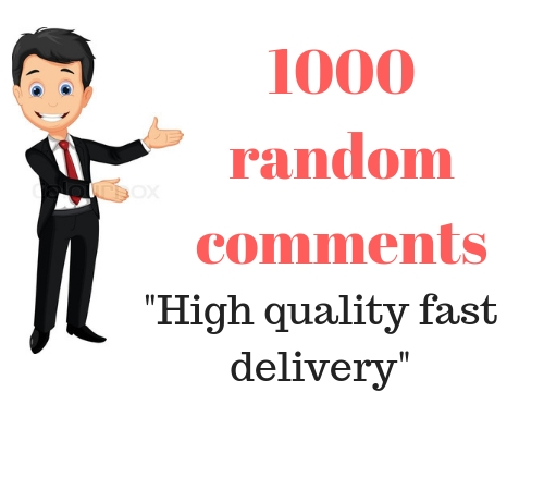 will Genuine viral 1000 High-Quality Random Post Comments from static Accounts