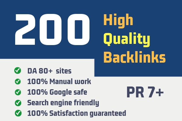 Google Top Ranking - 200 Unique Domain High Quality S...