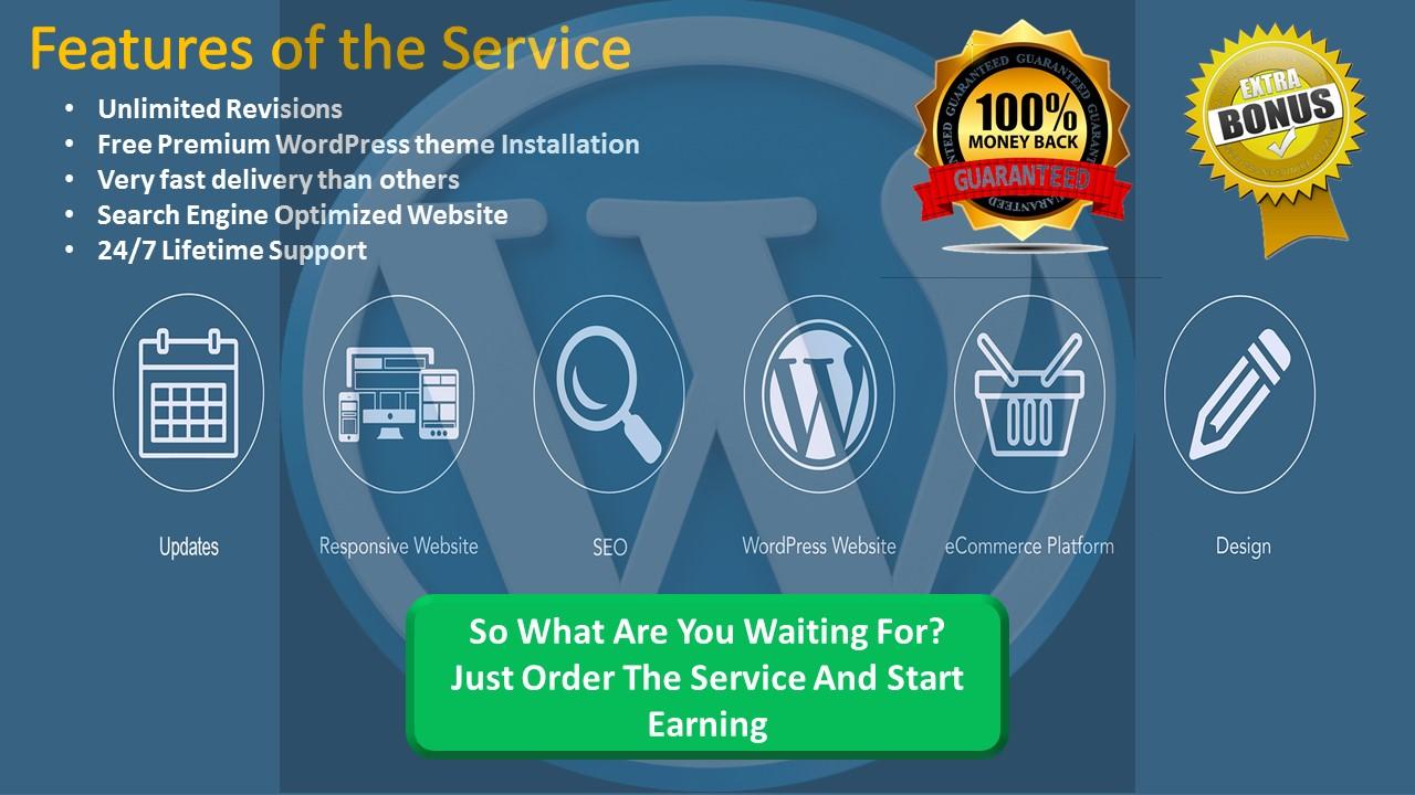 Design A Responsive Wordpress Website With Bonus Offer