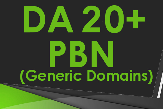 RELAUNCHED Create 6 DA 20-30+ Guaranteed Homepage PBN Post Backlinks