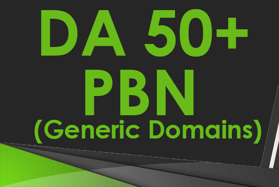 Create 6 DA 50+ Homepage PBN Post Backlinks