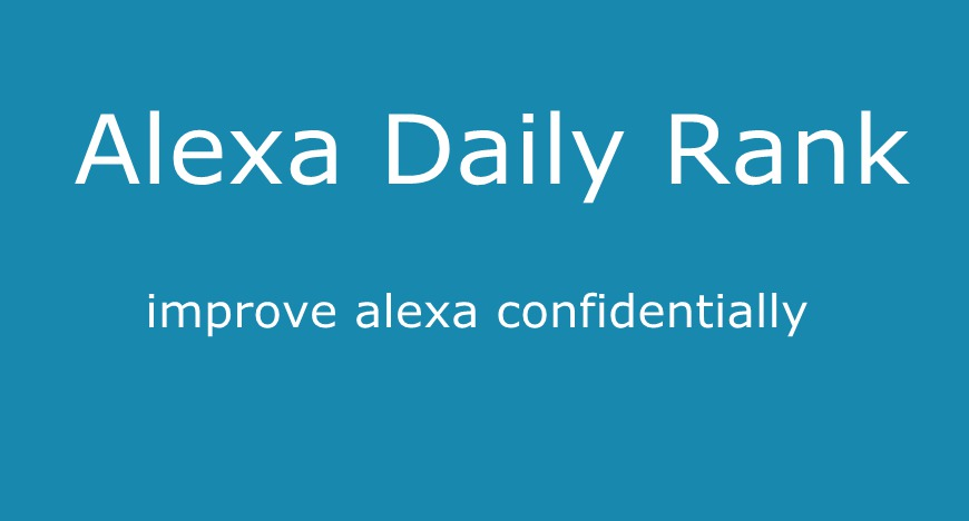 Boost Alexa Daily Rank 100,000 1 Month For Your Site
