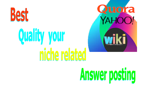 your niche related 30 Answer posting