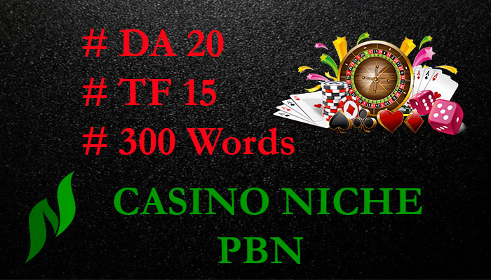 10 permanant Casino PBN Backlinks posts