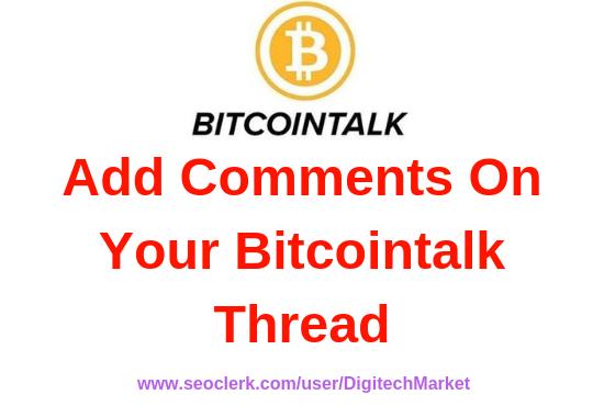 I Can Do Comments On Your Bitcointalk Thread