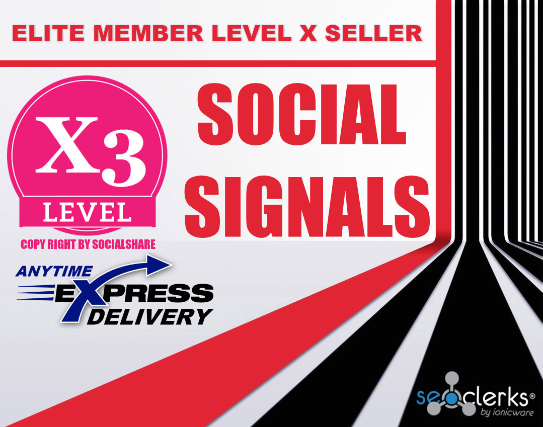 On Sale 122,000+ Top 5 Social Media Social Signals Share