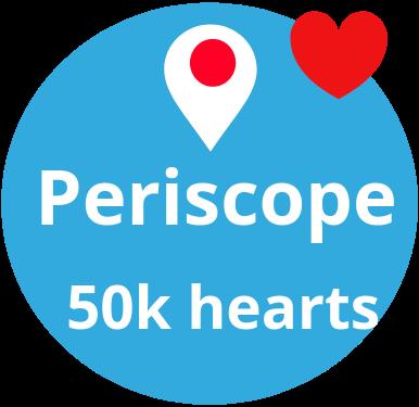 50 000 Periscope hearts