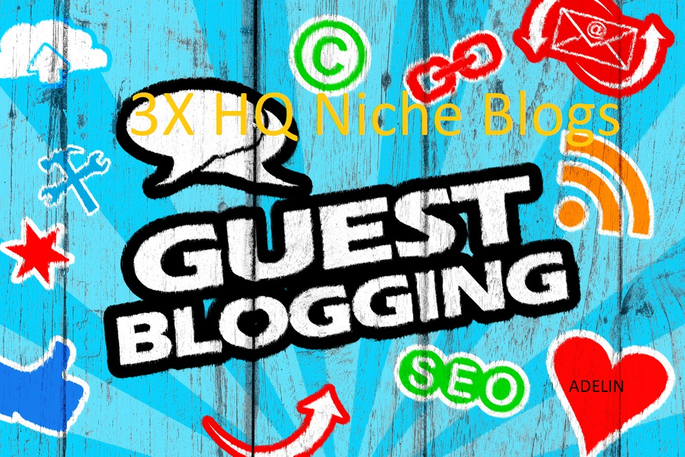 Write & Publish On 3 High-Quality Niche Blogs