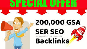 GSA 200,000 SER Google Authority Backlinks SEO