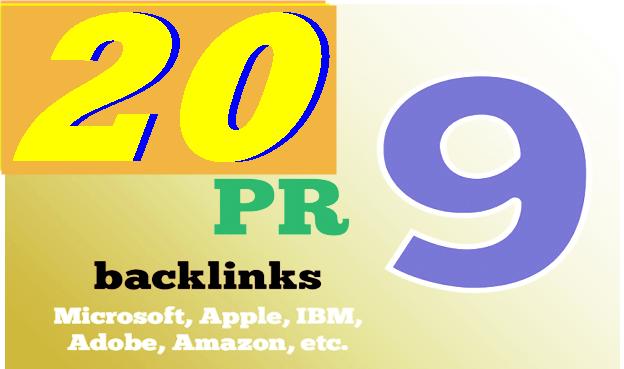 Manually Create DA 80+ High PR9  20 Safe Seo Backlink