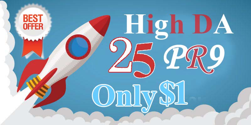Limited Time Offer- DA 80+ All Pr9 25 Safe SEO High Profile Backlinks