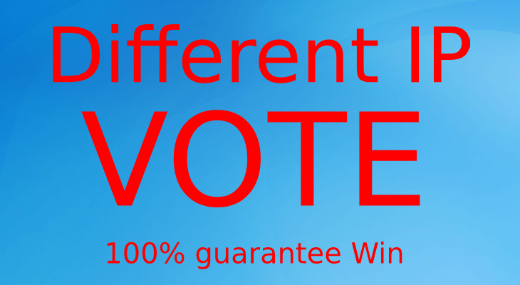 Get 150 Real Different USA IP online contest votes super fast