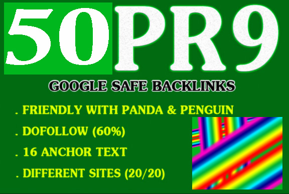 Offer 50 Pr9 Authority Domains Seo Backlinks
