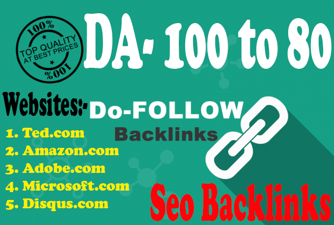 DA 80+ Pr9 50 High PR Domains Authority Google Ranking Safe Seo Backlinks