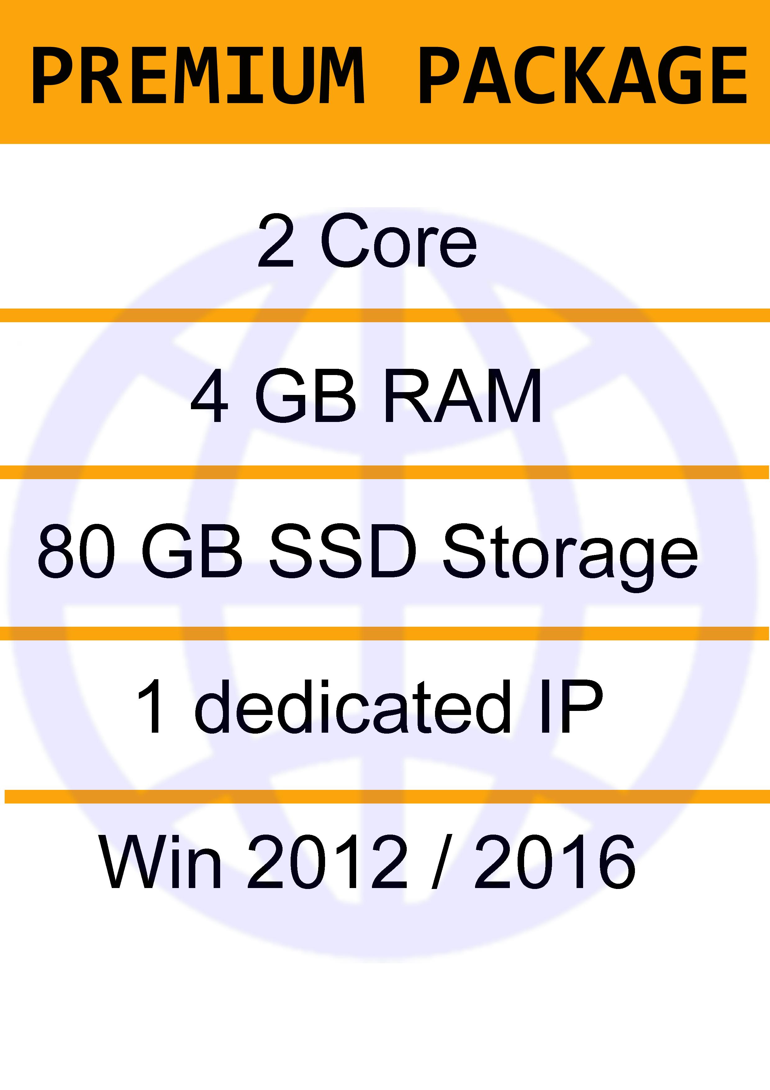 Windows VPS 4 GB - 2 Vcore - 80GB SSD - Unlimited Bandwidth