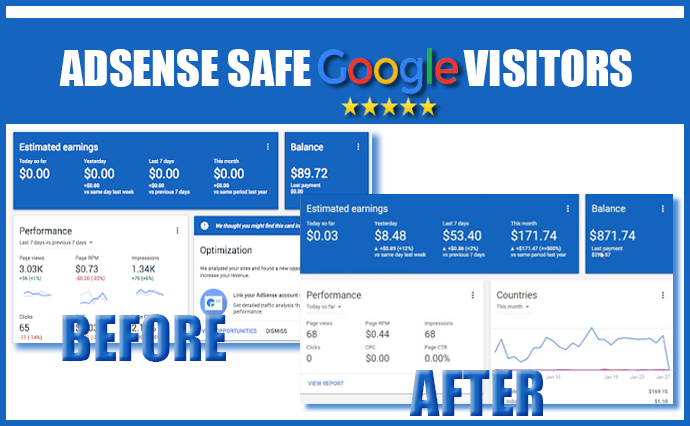 Send 30K+ ADSENSE safe USA visitors from Google