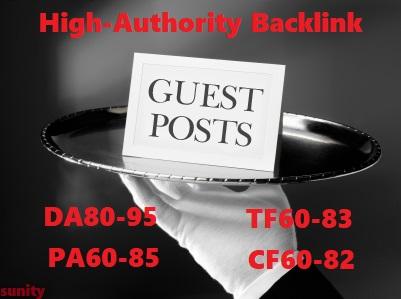 Write & Post On DA80-95,PA60-85,TF60-83 & CF60-82 High Authority Site
