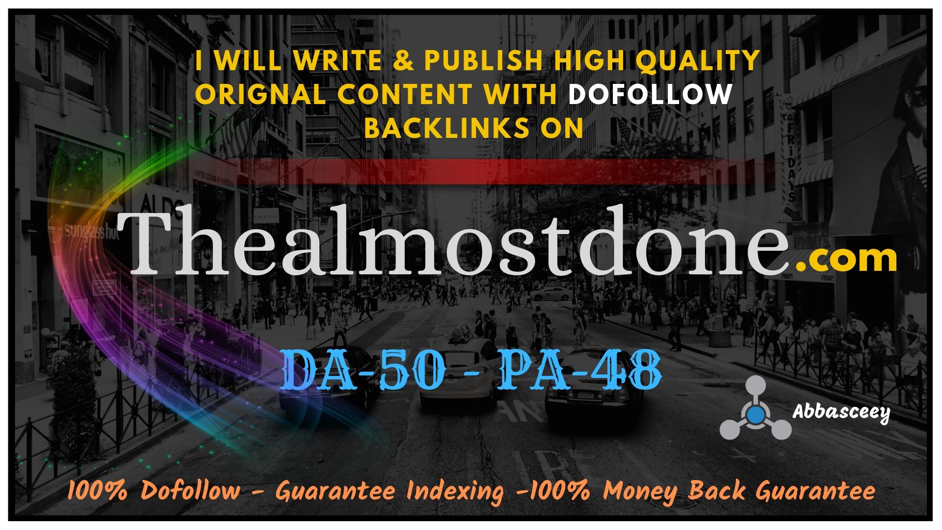 Guest Post on thealmostdone DA-50