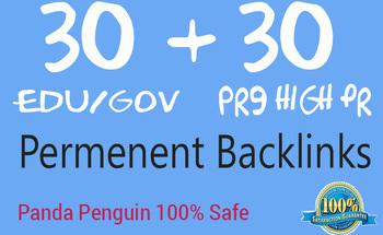 Do 60 Powerful Edu Gov, Pr9 High Da Backlinks For SEO