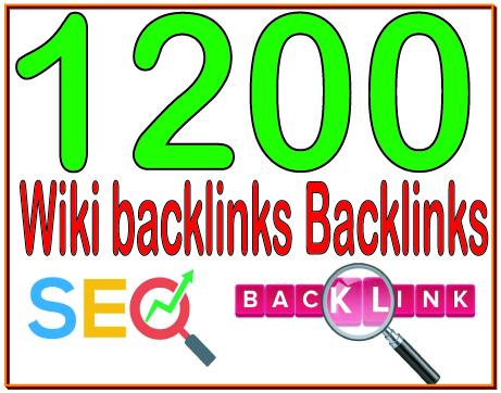 give you 1200 Wiki backlinks High PR4-PR7 Highly Authorized Google Dominating Backlinks