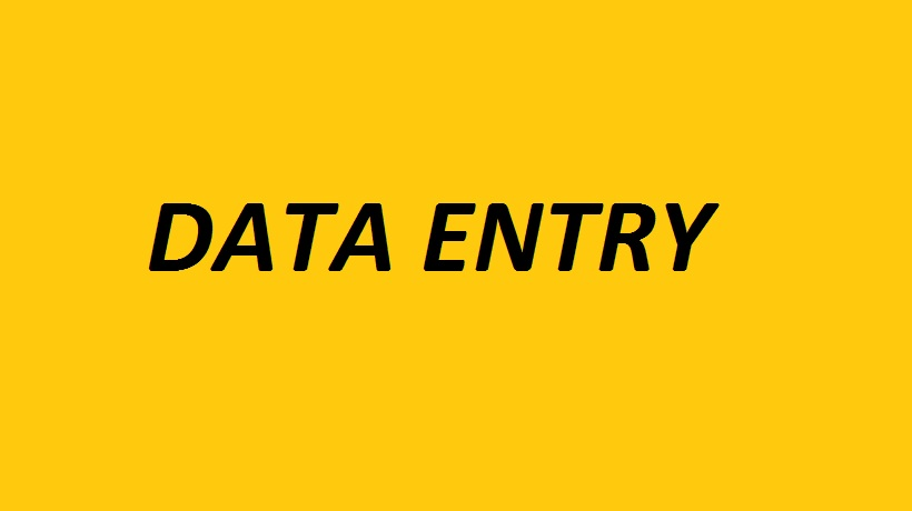 Better Data entry work for you