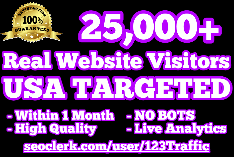 25,000 USA TARGETED Website Traffic