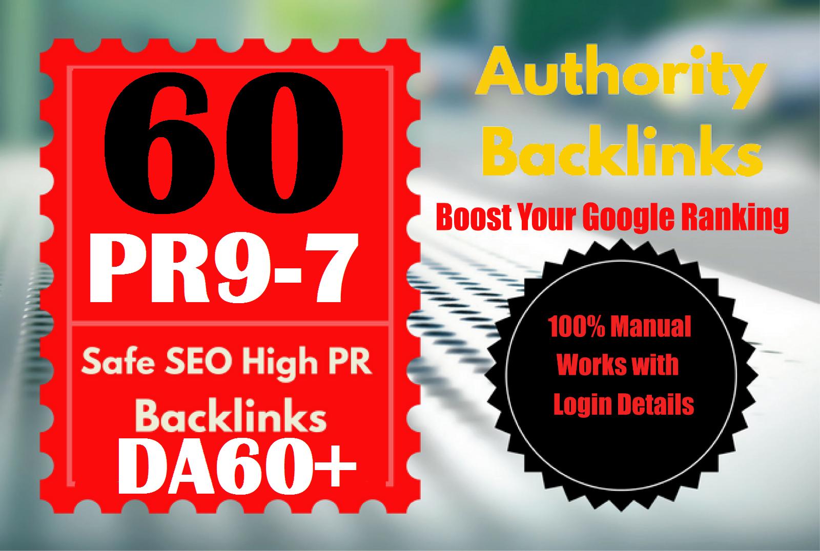 Manually Create TOP 60 DA60+ HQ Profile Backlinks to increase SERP SEO WEB Ranking