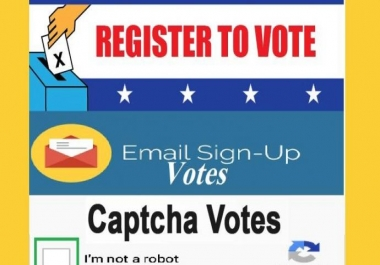 I provide you necessary 60 email vote with registration then different ip with capture vote for