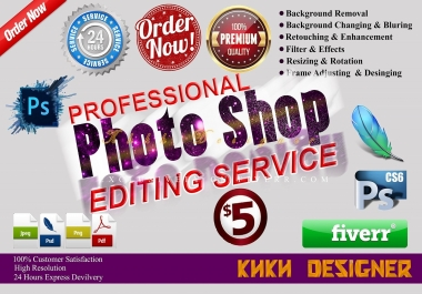 Do any work in photoshop editing quickly
