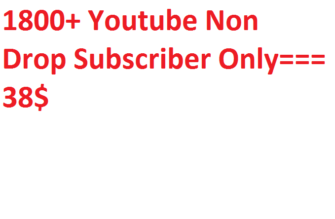 1800+ Youtube promotion via real users active and permanent with fast delivery