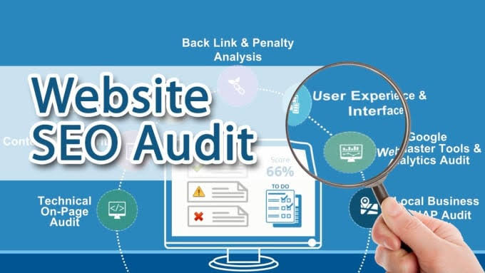 Seo audit report complete and tell you improvement