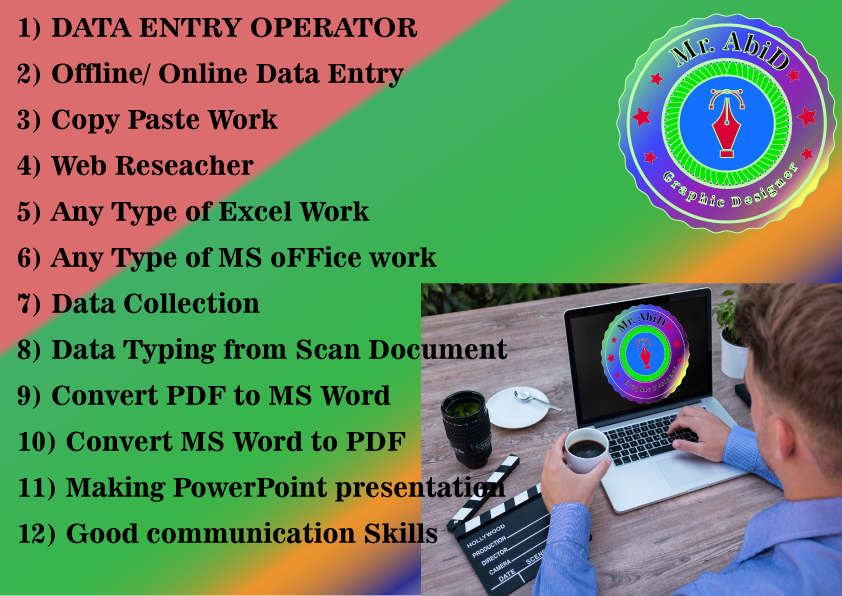 Virtual Assistant,  MS-Office convert PDF,  Fillable PDF,  CSV,  Excel,  word