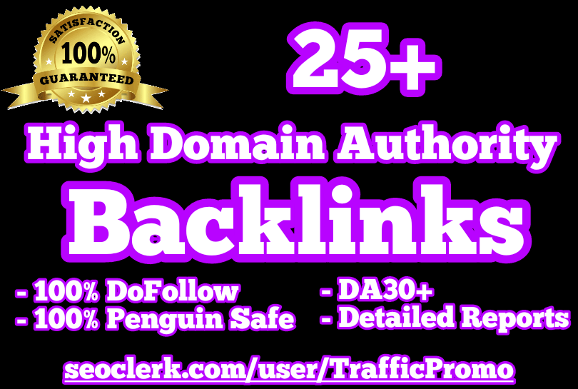 25+ DA30+ DoFollow Backlinks