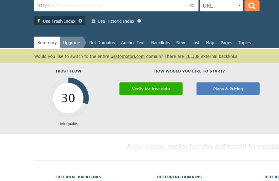 Your site with a permanent Trust Flow Of 30 - -