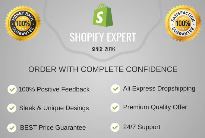 create or design a perfect shopify store shopify website