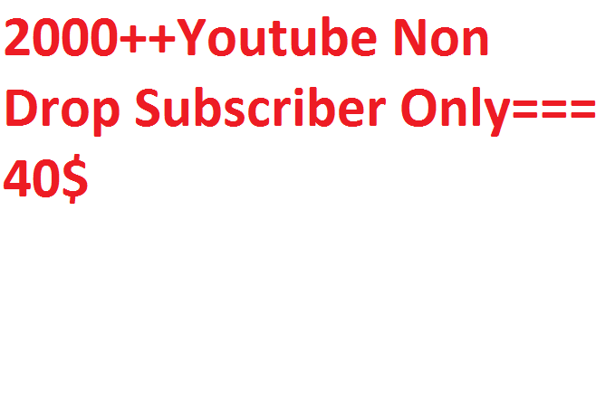 2000+++Youtube promotion via real users active and permanent with fast delivery