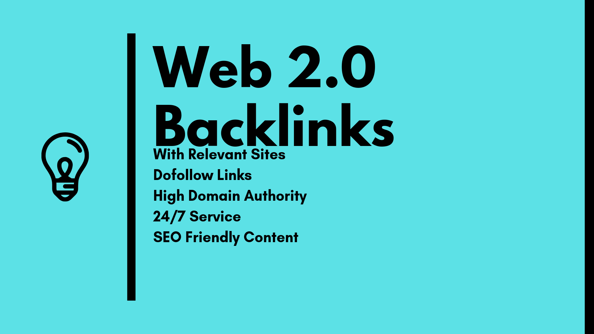 build 50 web 2.0 backlinks with DA 40+ sites in white...