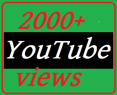 New offer 2000-3000 YouTube videos non dropped 12-48 hour's  complete