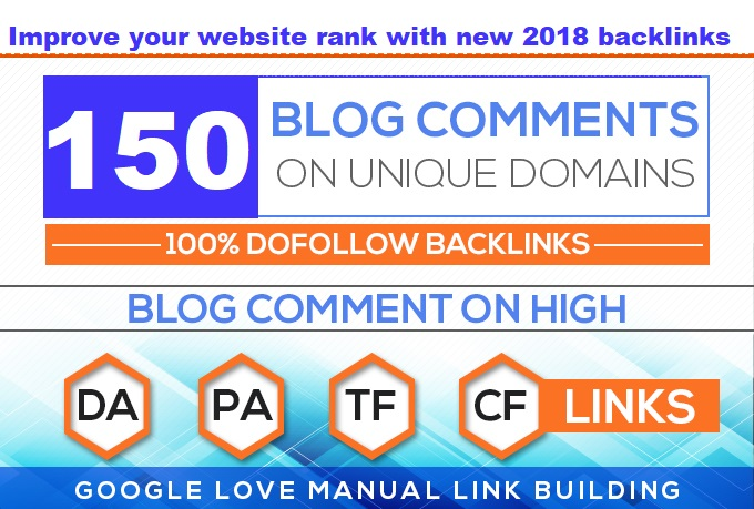 150+ DOFOLLOW High PR1-PR7 or DA 30+ Highly Authorized Google Dominating BACKLINKS