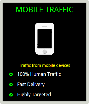Get 20000 REAL Human MOBILE Web Traffic To Your Blog