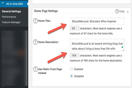Write Meta Tags Using All In One SEO Pack Wordpress Plugin