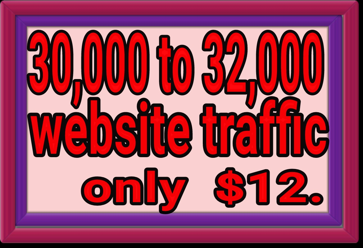 Real 32000 website traffic non drop fast delivery