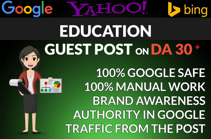 write and publish high quality guest post on education sites