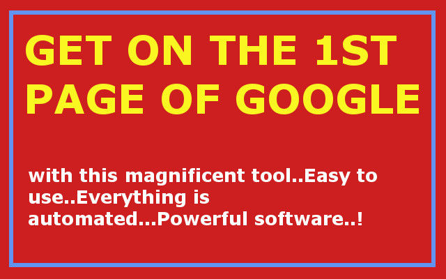 Get on the 1st Page of Google with this awesome SEO Software