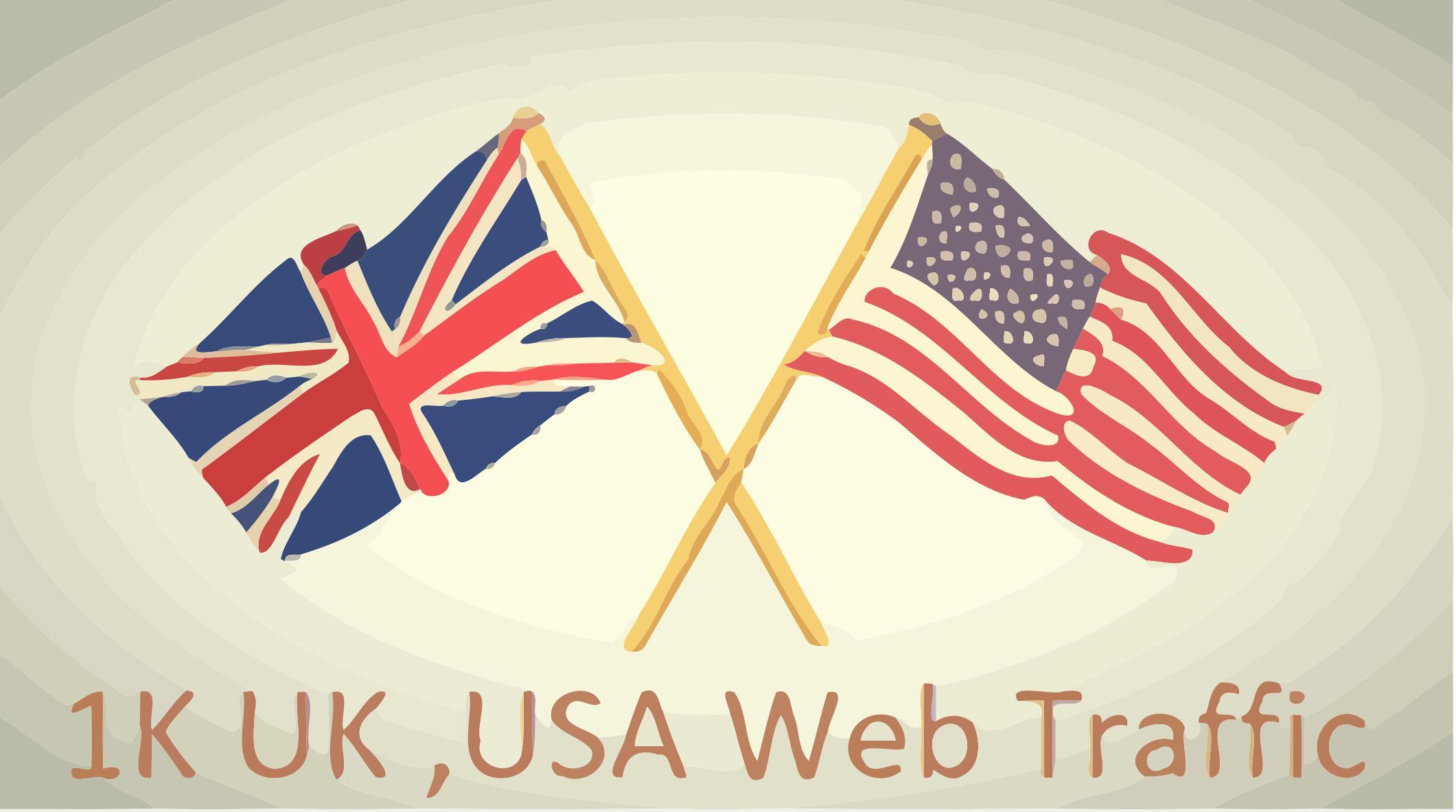 1K USA UK Keyword Targeted Web Traffic - Traffic Exchange